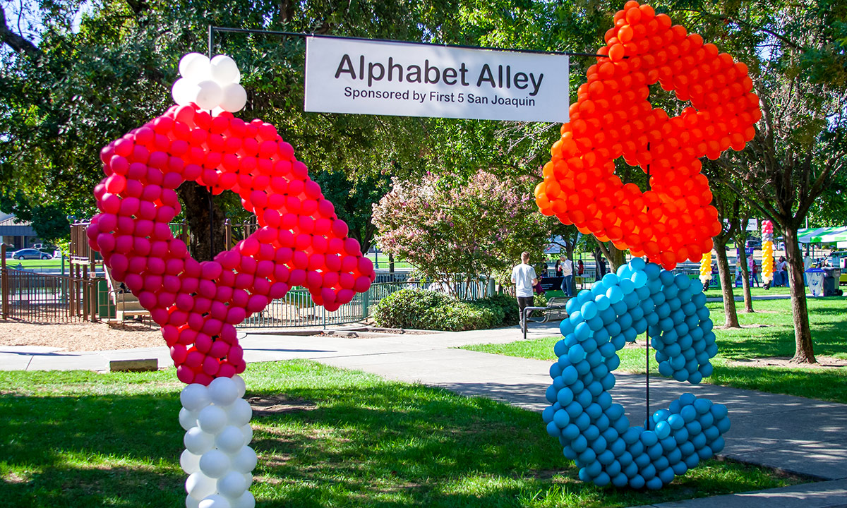 ABC Balloons for Alphabet Alley at Family Day at the Park