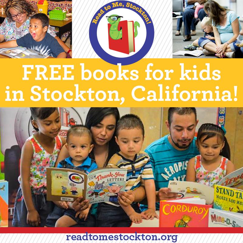 Free books for kids in Stockton, CA