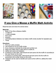 Moose a Muffin activity